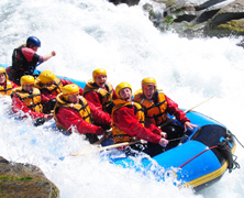 Balsas de rafting y kayaks en China