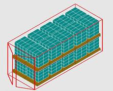 Calculadora cuantas cajas caben en un contenedor