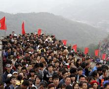 Muralla China llena por vacaciones